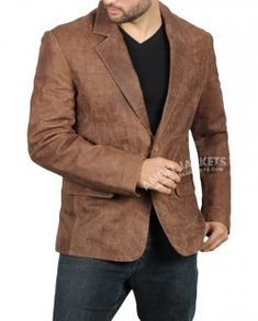 online shopping for Black Leather Blazer Men - Real Lambskin Brown Leather Mens Blazer from top store. See new offer for Black Leather Blazer Men - Real Lambskin Brown Leather Mens Blazer Suede Blazer Mens, Brown Suede Jacket Mens, Black Leather Blazer, Brown Blazer, Men's Leather Jacket, Shearling Jacket, Leather Men, Brown Leather, Lambskin Leather
