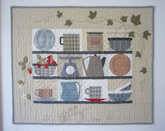 Sabine´s Love the utilitarian theme. Small Quilts, Mini Quilts, Ufo, Sewing Appliques, Quilted Wall Hangings, Antique Quilts, Fabric Crafts, Wood Crafts, Paper Piecing
