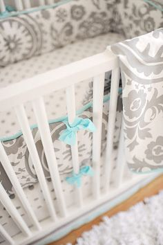 Love this one too!   Wink Crib Bedding by New Arrivals, Blue & Gray Crib Bedding