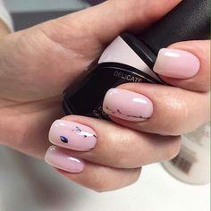 French Manicure Nails, Oval Nails, Manicure And Pedicure, Diy Nails, Gel Nail Art, Acrylic Nails, Marble Nails, Wedding Nail Polish, Work Nails
