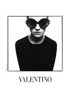Valentino sunglasses, fashion, eyewear, black and white, great photography,advertising, outline, design