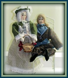 """Linda Walsh Originals Dolls and Crafts Blog: My 2 in 1 """"Grandma Aurora May - On An Expedition! and Grandpa Lewis - On An Expedition!"""" Victorian Lady and Gentleman Art Dolls NEW Combo E-Pattern"""