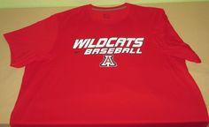Team Issue ARIZONA WILDCATS  Baseball NCAA T Shirt XXL 2XL -  NIKE DRI FIT - Red #Nike #ArizonaWildcats