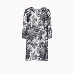 Black Toile de Jouy print anemone dress - Spring 2013 - @Stella Menagia McCartney