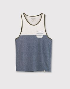 STRAPPY TOP WITH PANEL AND POCKET - T-SHIRTS - MAN - PULL&BEAR United Kingdom