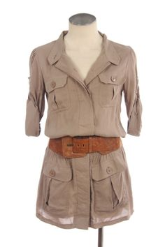 Button Down Tunic Blouse - From Laposhstyle.com .... love these and it comes with the belt xxx
