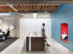 M Moser Associates have designed the offices of nonprofit educational organization Teach For America, located in San Francisco, California. Teach For Interior Work, Office Interior Design, Office Interiors, Office Lounge, The Office, Teach For America, Wall Seating, Workplace Design, Open Plan