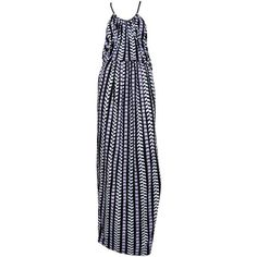 Preowned Balenciaga Purple & Black Geo Print Maxi Dress 2012 ($1,800) ❤ liked on Polyvore featuring dresses, purple, vintage dresses, ruched dress, balenciaga dress, purple maxi dress and geometric print maxi dress