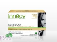 Inneov Densilogy es un complemento alimenticio que favorece el anclaje y crecimiento del cabello. http://www.farmacoslada.com/inneov-densilogy-anclaje-y-crecimiento-del-cabello-44-g-60-caps.html