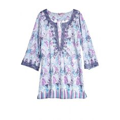 Hester Ocean Wave Printed Cotton Tunic.
