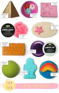 Top 10: LUSH Products