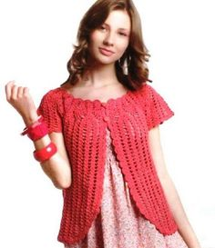 Grace y todo en Crochet: BOLERO IN PINK .....BOLERO EN COLOR ROSA.....