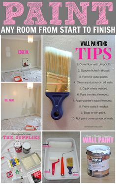 How To Paint a Room in 10 Easy Steps: a complete tutorial with everything you need to know (including what products to use!). This is great!