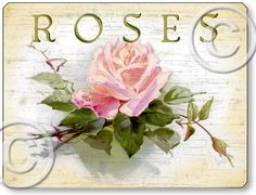images of roses on cottage signs | Fairy Freckles Studios Product Details
