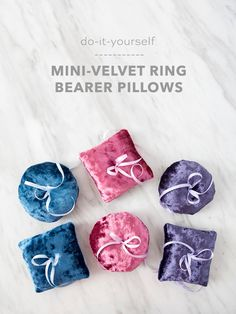 Learn how to sew this simple, mini ring bearer pillow!