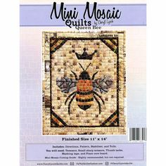 Mini Mosaic Quilts Queen Bee Pattern - Cheryl Lynch - Oyvey Quilt Designs LLC