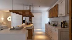 Modernes Küchendesign beruht auf Kontrast