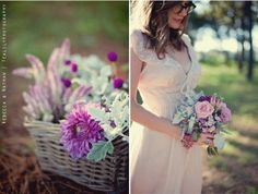 Not your typical wildflower wedding colors... But oh so pretty!