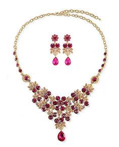 45432 Zinc Alloy,Crystal Jewelry Set