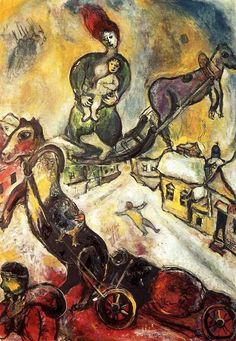 Marc Chagall - The War - 1943 - Musée National d'Art Moderne, Paris Marc Chagall, Chagall Paintings, Jewish Museum, Fauvism, Jewish Art, French Artists, Pablo Picasso, Les Oeuvres, Art History