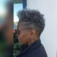 Short Grey Hair, Short Hair Cuts, Black Hair, Gray Hair, Short Buzzed Hair, Curly Short, Short Pixie, Tapered Natural Hair Cut, Natural Short Hairstyles For Black Women Tapered Twa