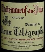 Vieux telegraphe - One of the oldest and most famous Château neuf du pape -  The oldest vines are Grenache, which account for 65% of the vineyard area. There is also Syrah (15%) , Mourvèdre (15%), Cinsaut and a mix other varieties, some of which are white, including Grenache Blanc, Clairette, Roussanne and Bourboulenc, altogether totalling just 5% of the vineyard. Therefore the white are not so common and a must to drink.