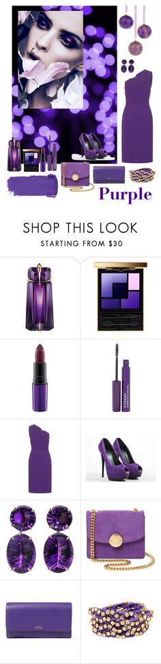"""Purple Perfection"" by soniauk ❤ liked on Polyvore featuring Thierry Mugler, Yves Saint Laurent, MAC Cosmetics, By Terry, STELLA McCARTNEY, Giuseppe Zanotti, Marc Jacobs, Ralph Lauren and Ettika"