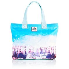 Superdry Summer Time Tote Bag ($20) ❤ liked on Polyvore featuring bags, handbags, tote bags, zipper tote, blue purse, tote handbags, tote purses and zippered tote bag