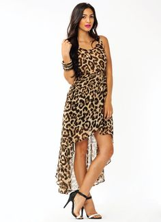 Leopard High-Low Dress