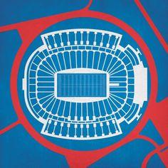 Ralph Wilson Stadium Map Art