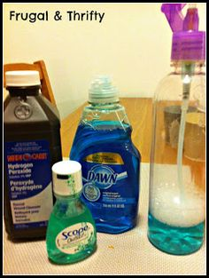 Ant Killer Spray : Add 1 tablespoon of hydrogen peroxide, mouthwash, and Dawn dish soap into a spray bottle and shake. Spray onto area with ants and let sit for 10 to 15 minutes then wipe clean.