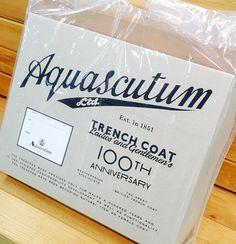 Aquascutum × naomi hirabayashi Historical Trench Coat 限定パッケージ