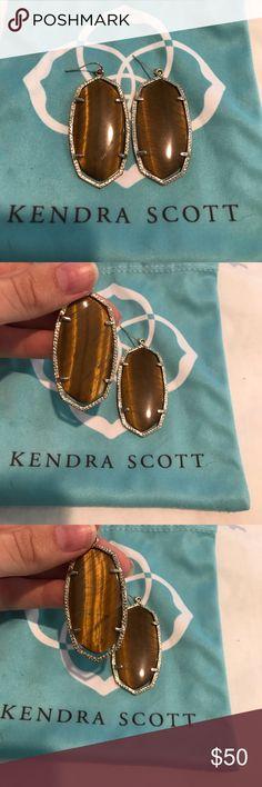 Kendra Scott Danielle Tiger's Eye Amazing Danielle earrings in Tigers Eye. Super cute!! I believe they are set in silver. Retail about $60 + tax! Kendra Scott Jewelry Earrings