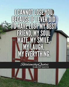 I cannot lose you