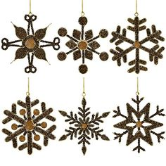 Golden Anniversary Decorations Party Hanging Decor Ornaments, Iron and Crystal, 6 Inches, Set of 6 ShalinIndia http://www.amazon.com/dp/B00LSNLI2W/ref=cm_sw_r_pi_dp_RCJJvb1NWYZH7