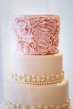 Couture Events-Christy and Ken : La Valencia Hotel Light Pink Cake