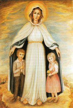 Los niños y María