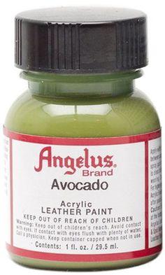 Angelus Acrylic Leather Paint-1 oz.- Avocado Green >>> ADDITIONAL INFO @ http://www.laminatepanel.com/store/angelus-acrylic-leather-paint-1-oz-avocado-green/?b=4000