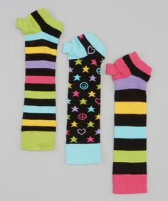 Look what I found on #zulily! LittleMissMatched Black Zany Jill Arm Warmers Set for $3.99!