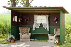 Real bus shelter in rural area. Only one house is in walking distance to this. - photo by photo.philo, via Flickr