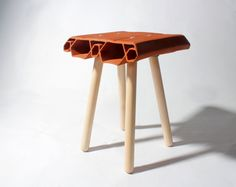 extruded clay stool #tabouret