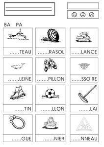 confusion syllabes - chez Camille Nombreux autres exercices