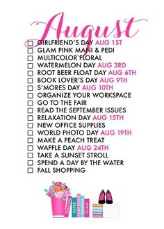 August 2017 Seasonal Living List