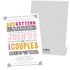 Bridal Shower Invitations -- Vintage Couples Affair. Create a vintage theme for your couples' shower in minutes by starting with these beautiful bridal shower invitations and customizing them to your taste!