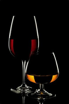 Wine Glass And Whiskey Glass On Black Background Wine Glass Drawing, Black Paper Drawing, Glass Photography, Wine Art, Color Pencil Art, After Dark, Pictures To Paint, Cool Wallpaper, Black Backgrounds