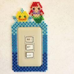 Little Mermaid Perler Bead light switch cover Perler Bead Templates, Diy Perler Beads, Perler Bead Art, Pearler Beads, Fuse Beads, Hama Beads Design, Hama Beads Patterns, Beading Patterns, Christmas Perler Beads