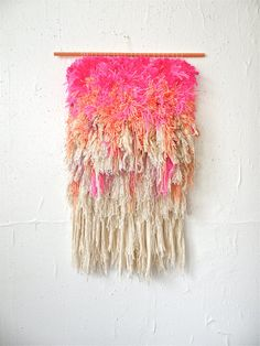 Furry Electric Cherry Fields Handwoven tapestry | jujujust