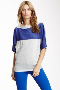 Go Couture Banded Boatneck Tee