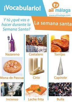 "The ""semana santa"" is very important in #Spanish #culture so if you're travelling to Spain during this holy week, here is some #vocabulary that might help you :D #LearnSpanish #SpanishSchool #SpanishVocab"