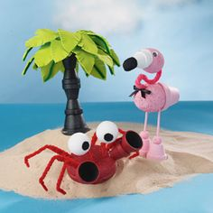 Clay pot critters | This tropical craft from #Michaels starts out with a few terra cotta garden pots. Your kids will love their critters! #airmiles #summerkids